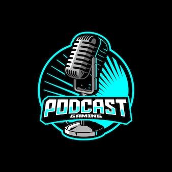 Logo esport de jeu de podcast