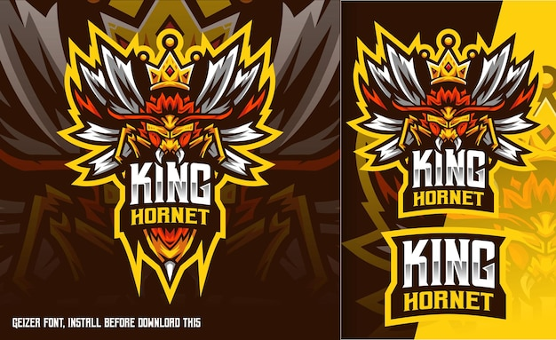 Logo esport king hornet bee