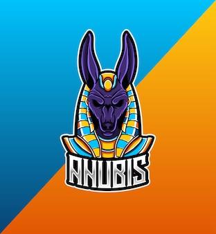 Logo esport avec mascotte anubis