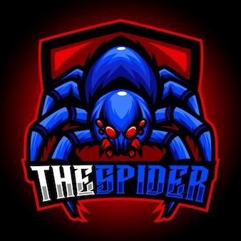 Logo esport mascotte araignée