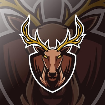 Logo esport mascotte cerf