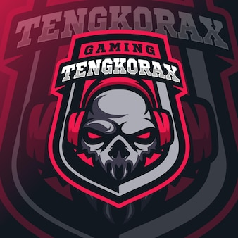 Logo d'esport de mascotte de crâne