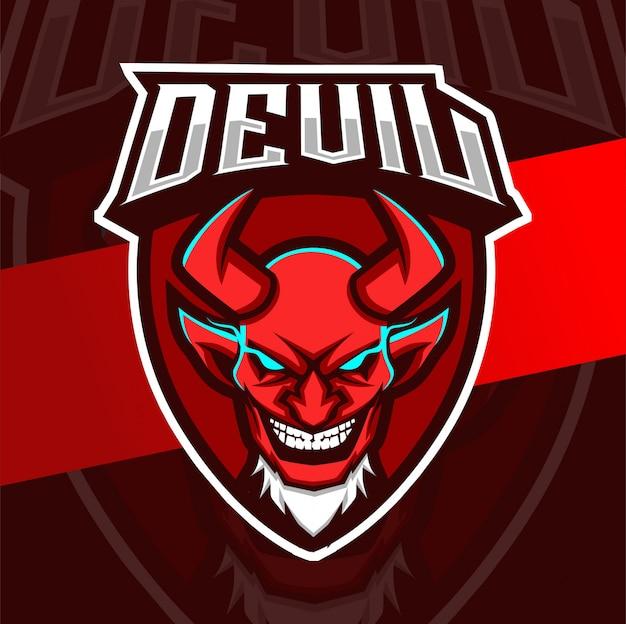 Logo esport de la mascotte du diable