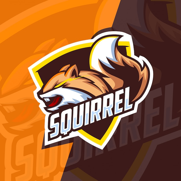 Logo esport mascotte écureuil