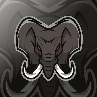 Logo esport mascotte éléphant