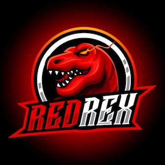 Logo esport mascotte rex sauvage