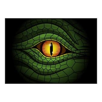Logo esport mascotte yeux de reptile