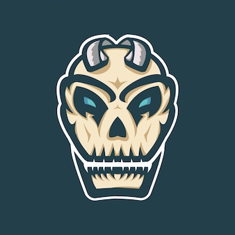 Logo esport mascotte zombie crâne
