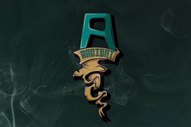 Logo esport monogramme ancien premium