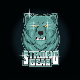Logo esport ours fort