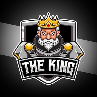 Logo esport avec personnage roi