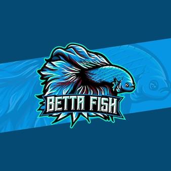 Logo esport avec poisson betta