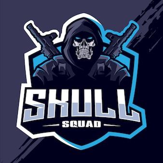 Logo esport skull squad