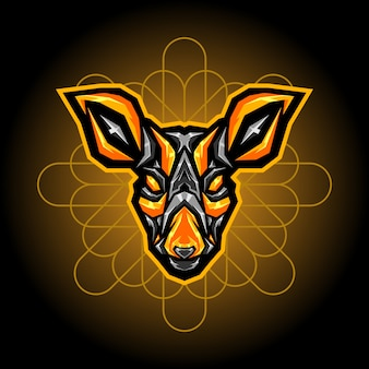 Logo esports acier cerf