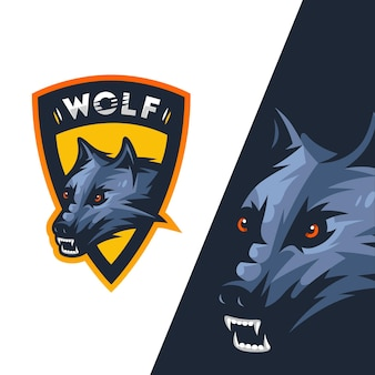 Logo esports angry wold