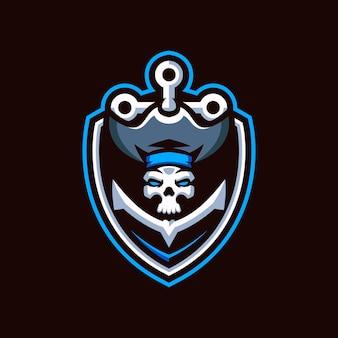 Logo d'esports de crâne de pirates