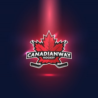Logo esports maple leaf de hockey canadien