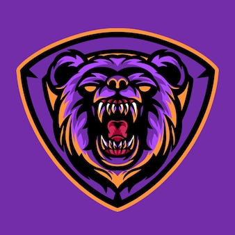 Logo d'esports mascotte ours