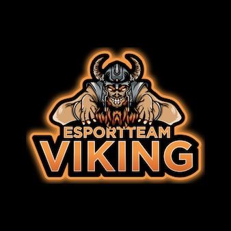 Logo d'esports viking effrayant