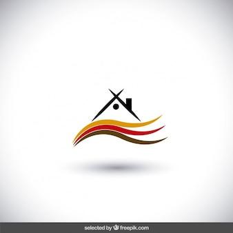 Logo état réel avec des rayures ondulées