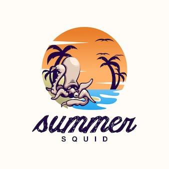 Logo d'été calmar