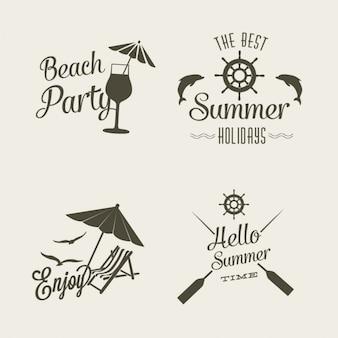 Logo d'été de conception