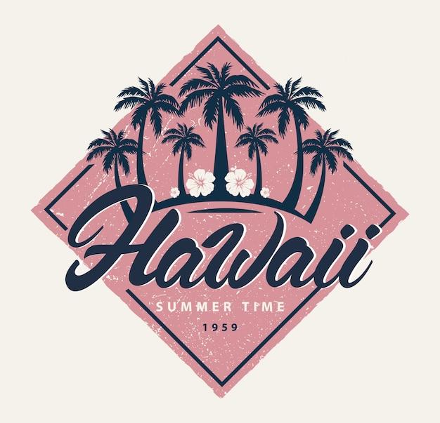Logo d'été d'hawaï
