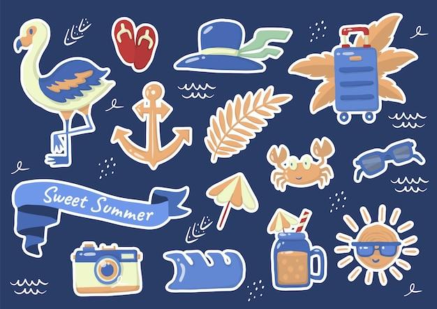 Logo d'étiquette d'été pour bannière, affiche, flyer