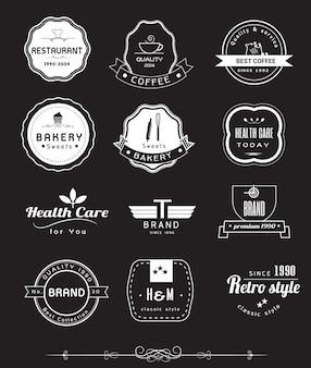Logo et étiquettes avec un design vintage rétro