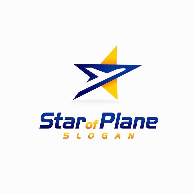 Logo étoile avec avion