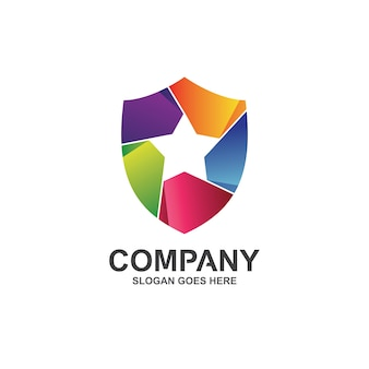 Logo étoile et bouclier