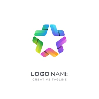 Logo étoile coloré créatif