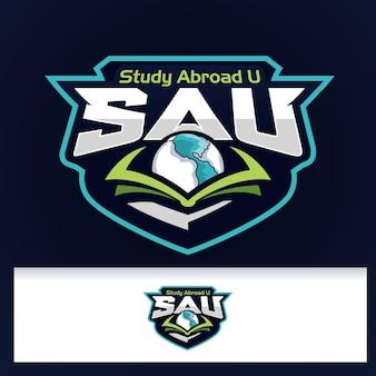 Logo d'étude de logo d'ailes d'emblème d'insigne