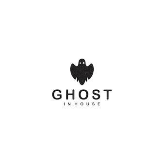 Logo fantôme noir