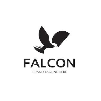Logo de faucon noir