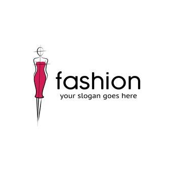 Logo de femme de beauté de mode