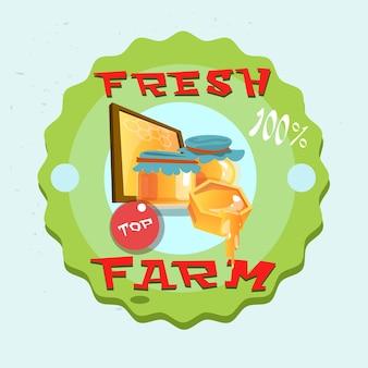 Logo de la ferme écologique au miel