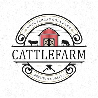 Logo de ferme d'élevage vintage