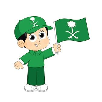 Logo de la fête nationale de l'arabie saoudite (ksa)
