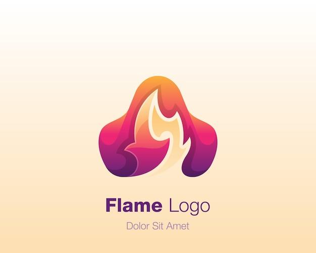 Logo de feu abstrait
