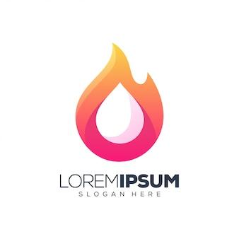Logo de feu liquide