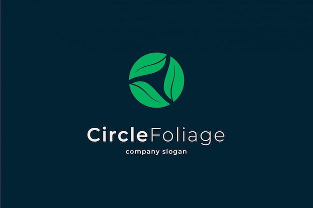 Logo de feuillage cercle