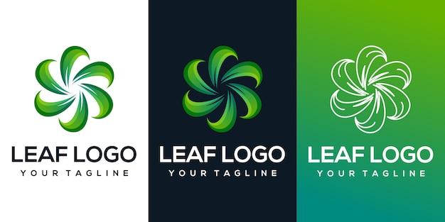 Logo de feuille abstraite