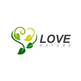 Logo feuille d'amour