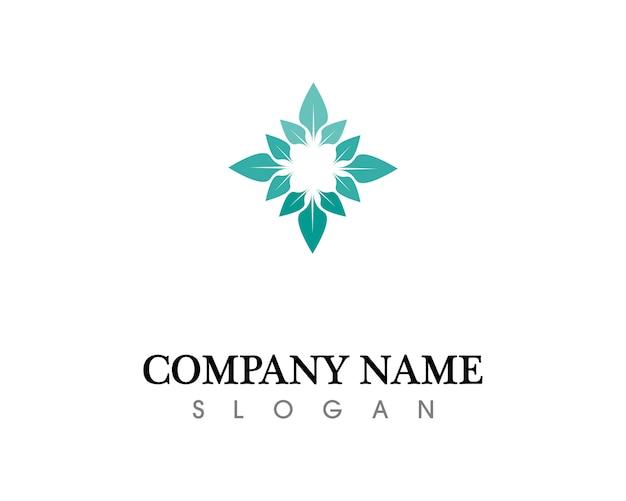 Logo de feuille d'arbre