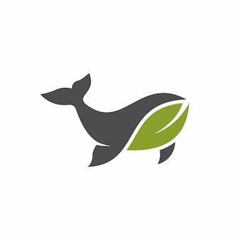 Logo de feuille de baleine