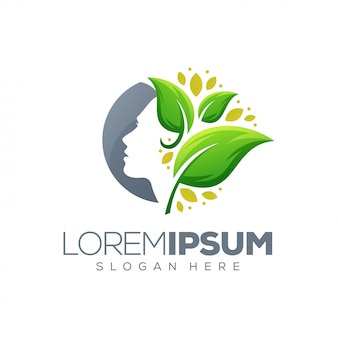 Logo feuille de beauté