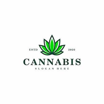 Logo de feuille de cannabis