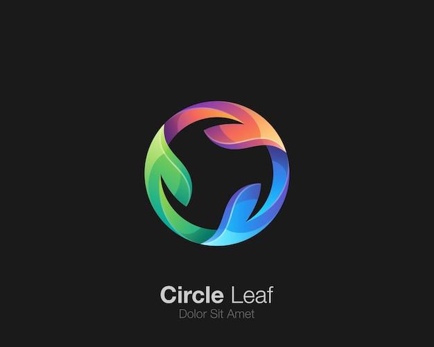 Logo de feuille de cercle