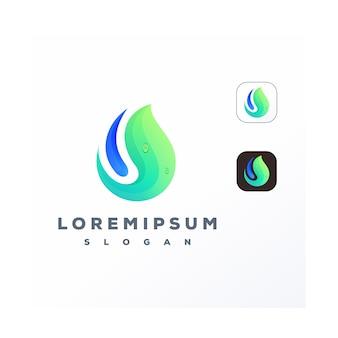 Logo de feuille colorée